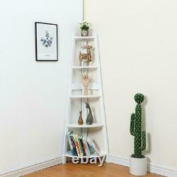 10% OFF Ladder Corner Bookcase Shelving Rack Display Organiser Storage H413-5W