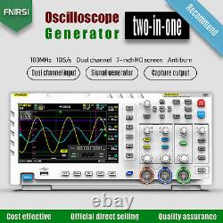 1014D 7 2Channel Tablet Oscilloscope Digital Storage LCD Display White