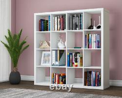 16 Cubes Unit Stand Display Bookcase Storage Bookshelf Organiser White/Black UK