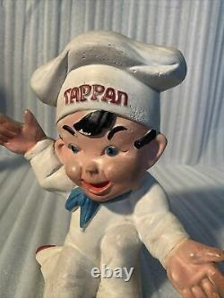 1930s TAPPAN ADVERTISING FIGURE STORE DISPLAY Little Chef chalkware RARE Piece
