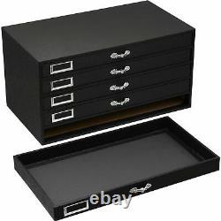 250 Gem Jars Display & Jewelry Storage Case with White Inserts