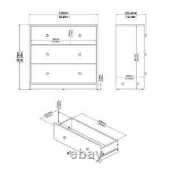 3 Drawer Chest Cabinet Dresser Bedroom Clothes Storage Organizer Table Display