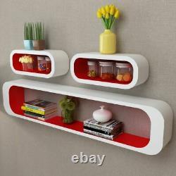 3pcs Display Storage Cube Floating Wall Shelf Set Bookshelf Display Home Decor