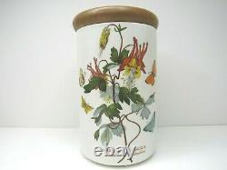 4 Botanic Garden Portmeirion Lidded Canisters Storage Decor Display Spice Jars