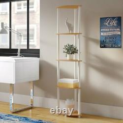 5 Tier Corner Display Unit Shelf Shelves Rack Library Storage Holders Organiser