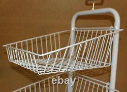 5 Tier White Stacking Baskets Dump Bin Display Retail Home Shop Storage New