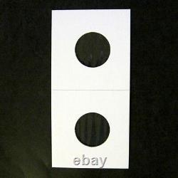 (5000) Nickel Size 2x2 Mylar Cardboard Coin Flips for Storage & Display 5 Cent