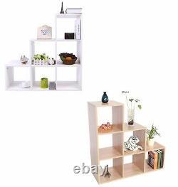 6 Cube Wooden Bookcase Shelving Display Shelves Storage Unit Wood Shelf Kids