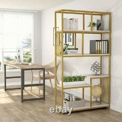 7-Open Shelf Bookcases, Modern Bookshelf Elegant Storage Display Shelves NEW