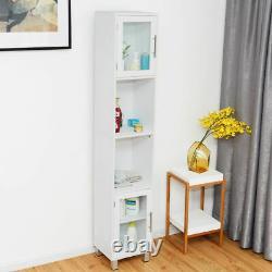71 Bathroom Tall Tower Storage Cabinet Organizer Display Shelves Bedroom