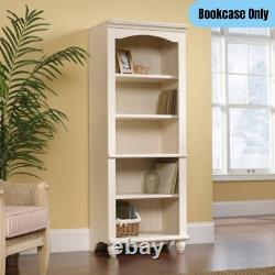 72 Tall Traditional 5-Shelves Library Bookcase Office Display Storage Off-White