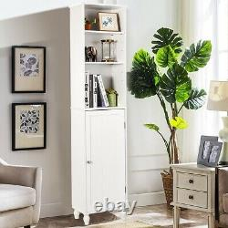 Bathroom Tower Storage Shelving Display Cabinet