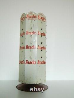 Brach's Candy Dispenser Rack Store Display Revolving Old Vtg Advert Sign Metal