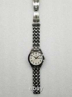 Bulova Beige Dial Day & Date Stainless Steel Men's Watch 96c103 Store Display