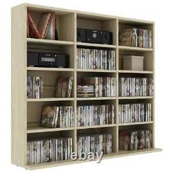CD DVD Storage Shelf Display Rack Tower Stand Organizer Cabinet Wood Bookshelf
