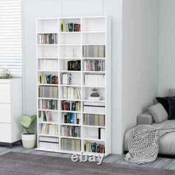 CD DVD Storage Shelf Rack Media Tower Stand Organizer Cabinet Display Bookcase W