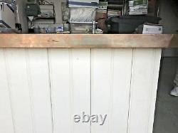 Copper top kitchen or laundry room island beverage bar store display
