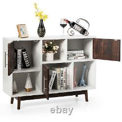 Costway Wood Display Storage Cabinet Console Table TV Stand Multipurpose withShelf