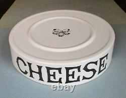 Dairy Supply London CHEESE slab white ware store display 9 1/4 early 20th cent