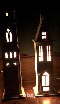 Dept. 56 Winter Silhouette Treasures Christmas Village Store Window Display