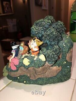 Disney Store Snow White 7 Seven Dwarves Water Fall Fountain Figurine House Light