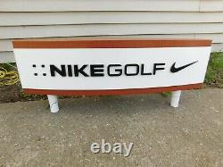 Double Sided Nike Golf Store Sign Display 30 x 12 With Legs