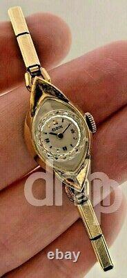 Elgin Ladies NOS 10K GP Manual Wind Watch With Original Store Display Box 14MM
