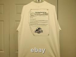 Free Store Display + Jurassic Park Vintage Unworn 1992 Film Crew XL Shirt
