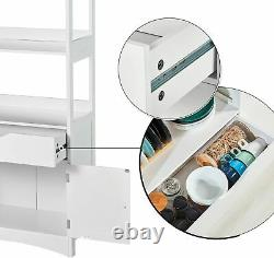 Freestanding Sideboard Storage Cabinet Display Bookshelf Kitchen Pantry Cupboard