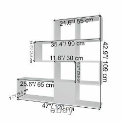 Geometric Bookcase Bookshelf Modern Large Display Shelving Storage Shelf Decor