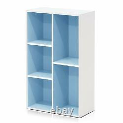 Green Pink Blue White 5 Shelf Bookcase Bookshelf Book Cube Storage Display Decor