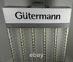 Gutermann Sewing Thread 100 Count White Cabinet Rack Store Display (Empty)