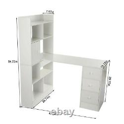 Home Computer Desk Table Cube Storage Unit Display Shelves Bookcase With4 Drawers