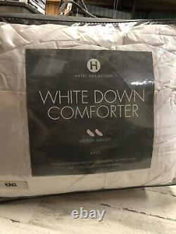 Hotel Collection King White Down Comforter 400 TC Medium Weight Store Display