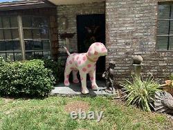 Huge 69 Victoria's Secret PINK Mascot Store DIsplay Dog Polka Dot Retired Rare