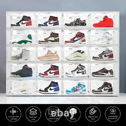 LED Shoe Box Stackable Light Up Sneaker Display Collection Storage Organizer XL