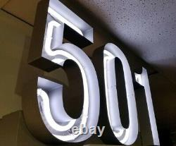 LEVI'S 501 Jeans Retail Store Display Advertising Sign Neon