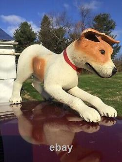 Large Store sign hanging Display Jack Russell dog statue 4 foot vintage AKC