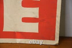 Large vintage store window display sign GET ME FREE shop advertising red white