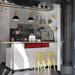 Leadleds Open Signs Programmable Scrolling Message LED Display Board for Store