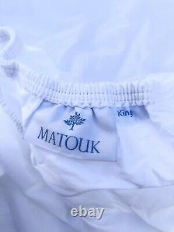 Matouk King Fitted Sheet White 100% Egyptian Cottom Store-Display