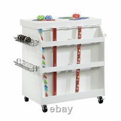 Mobile Arts & Craft Furniture Crafting Storage Organizer Sewing Workstation NEW