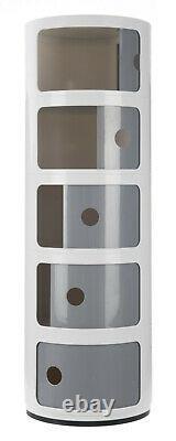 New Modern Italian Componibili Style Plastic Storage Cabinet Round Display Unit