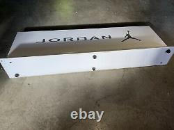 Nike Air Jordan Rare Store Display Sign White Silver Vntg 90s Y2K Rare Vintage