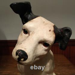 Original Antique Rca Victor Nipper Dog Store Display 14 Paper Mache
