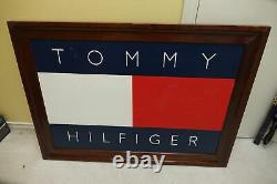 Original Hand Painted Tommy Hilfiger Framed Advertising Store Display 43 X 31