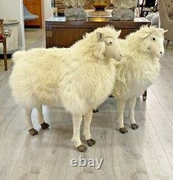 RARE Pair Of 100% Sheepskin Sheep Brooks Brothers Store Display Sheep 3 HTF
