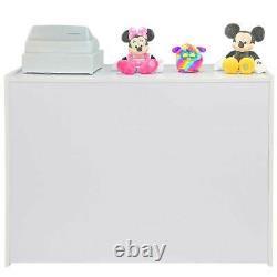 Retail Counters Shop Display Storage Cabinet Glass Showcase White Shelves Zodiac