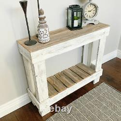 Rustic Farmhouse Hall Table Entryway Display Storage Distressed Reclaimed Wood