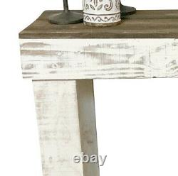 Rustic Farmhouse Sofa Console Table Reclaimed Wood Entryway Hall Display Storage
